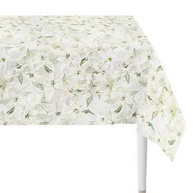 Tischdecke Weihnachtsstern weiß 250x150