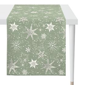 Tischläufer Christmas Time grün/goldfarben 140x48