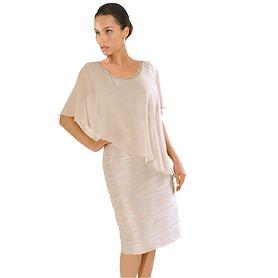 Kleid Leontine beige, Gr. 46