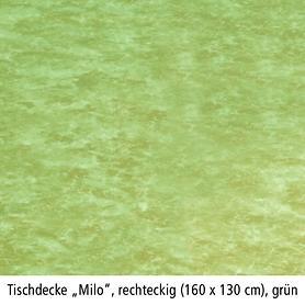 Tischdecke Milo, rechteckig, 160 x 130 cm, grün