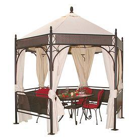 """*NEU*: Gartenpavillon """"Romantik"""" aus Schmiedeeisen, braun"""