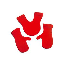 Partnerhandschuhe, rot