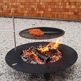 Feuerstelle Fireplate D 75 cm mit optionalem Grillrost