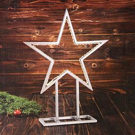 LED-Metall-Stern Light Star, silber