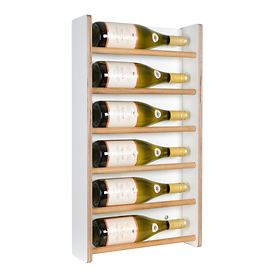 Wand-Weinregal Wine6, weiß