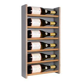 Wand-Weinregal Wine6, anthrazit