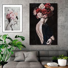 Bild Schönheit mit Blumen