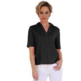 Poloshirt Jasmin schwarz Gr.38
