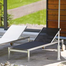 Edelstahl-Liege Luxury