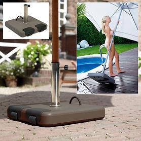 Rollbarer Naturbeton-Schirmständer