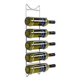 Wand-Weinregal WALL für 5 Flaschen, verchromt