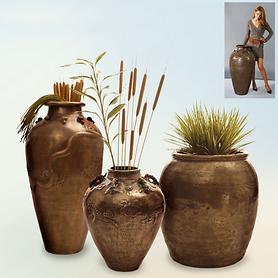 Vasen im Asia-Look