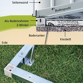 Image of Alu-Bodenrahmen Gr.5 für Gartenhaus Europe
