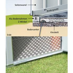 Image of Alu-Bodenplatte Gr.2 für Gartenhaus Europe