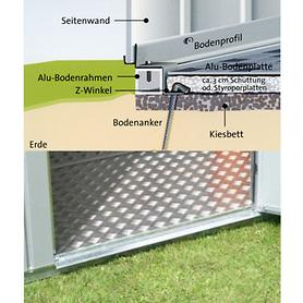 Image of Alu-Bodenplatte Gr.6 für Gartenhaus Europe