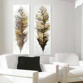 XL-Bild Feather Spring 150 x 50 x 4 cm