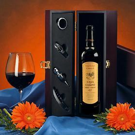 Weinaccessoire-Kiste