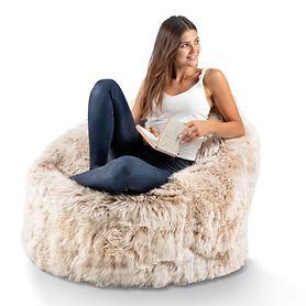 Lammfell-Sitzsack Cozy