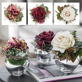 Blumensträuße Petit Bouquet und Vase Colore