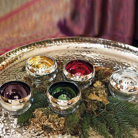 Teelichthalter/Vase Colore