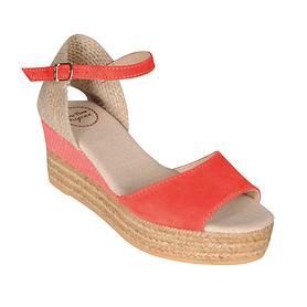 Sandalette Donna koralle Gr. 38