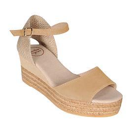 Sandalette Donna beige Gr. 37