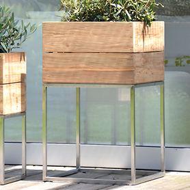 teak-pflanzbehalter-garden-mit-edelstahl-gestell