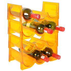 Acryl-Weinregal FLASH, orange, 4er-Set