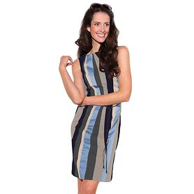 Kleid Stripes blau Gr. 42