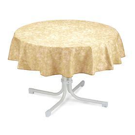 Tischdecke Milo D 130 cm beige