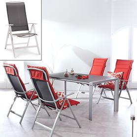Aluminium-Gartenmöbel mit Textilengewebe