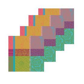 Serviette 4er-Set Mille Gardenias 55 x 55 cm bestehend aus: