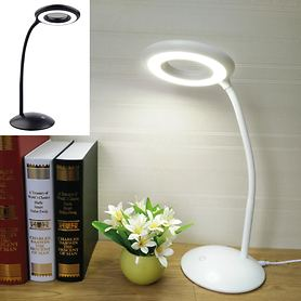LED-Tischlampe mit Lupe