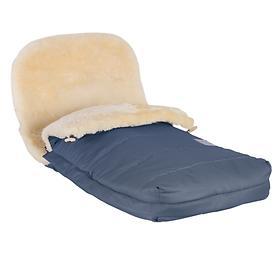 Lammfell-Kinderwagensack marineblau