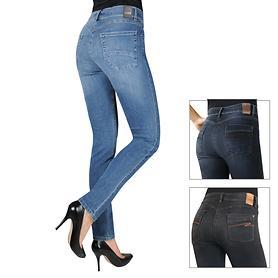 Eng geschnittene 5 Pocket Stretch-Jeans