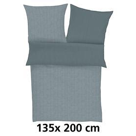 Wende-Bettwäsche Zeitgeist grau 135x200