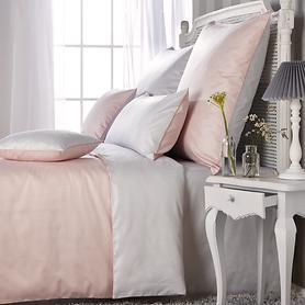 Wendebettwäsche Gwen rosé/grau 135x200 cm