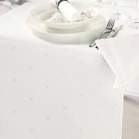Tischdecke Sternenhimmel, cremeweiß D 180 cm