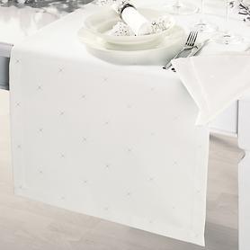 Tischläufer Sternenhimmel, cremeweiß 140 x 50 cm