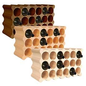 Weinregal Wooden Wine Rack, Modul Wave