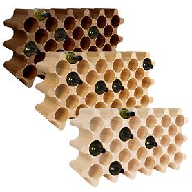 Weinregal Wooden Wine Rack, Modul Round