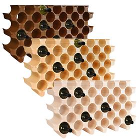 Weinregal Wooden Wine Rack, Modul Peak