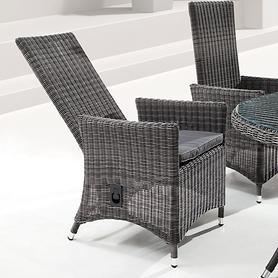 Geflecht-Sessel, mit verstellbarer Rückenlehne