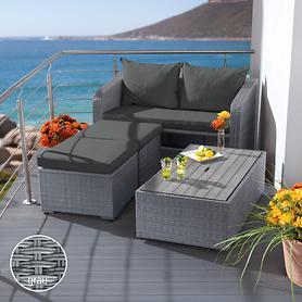 Geflecht-Balkon-Dining-Lounge, platzsparend