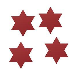 Glas-Set Star 4er-Set rot