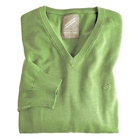 V-Ausschnitt-Pullover Daniel Hechter grün Gr. M