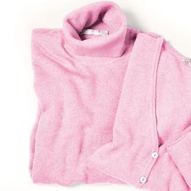 Damen-Rollkragen-Pullover belle laine, rose, Gr. M