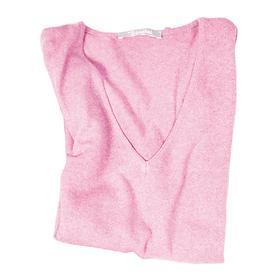 Damen-V-Ausschnitt-Pullover belle laine, rose, Gr. XS
