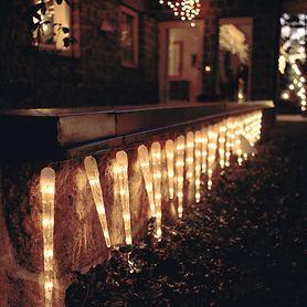 Eiszapfen-Lichterkette
