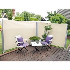 Seitenmarkise doppelseitig natur H 160 x L 600 cm | Garten > Balkon > Sichtschutz | Leco